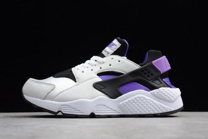 Nike Air Huarache '91 QS Black Purple Punch White AH8049 001 Shoes