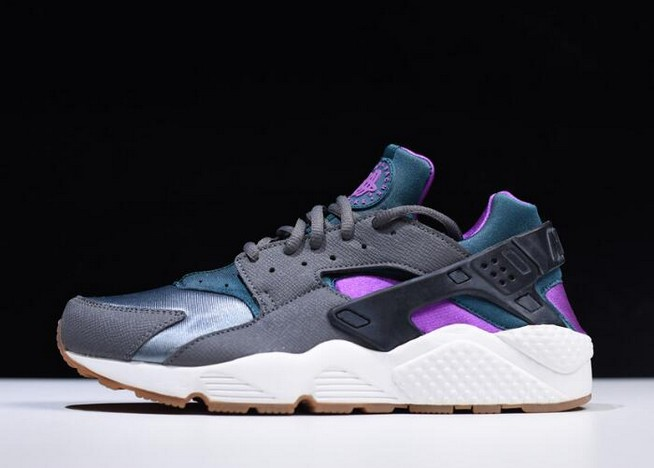"Nike Air Huarache Run ""Mowabb"" Dark Grey Teal Running Shoes"
