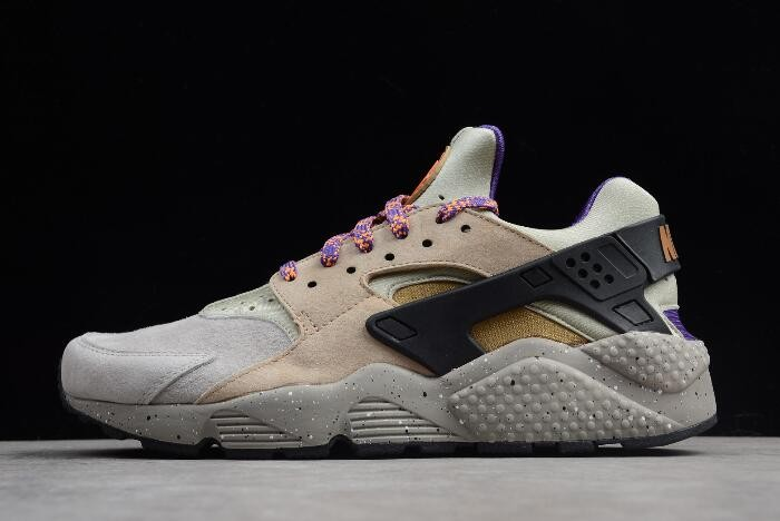 Nike Air Huarache Run Premium ACG Linen Golden Beige Black Court Purple 704830 200 Shoes