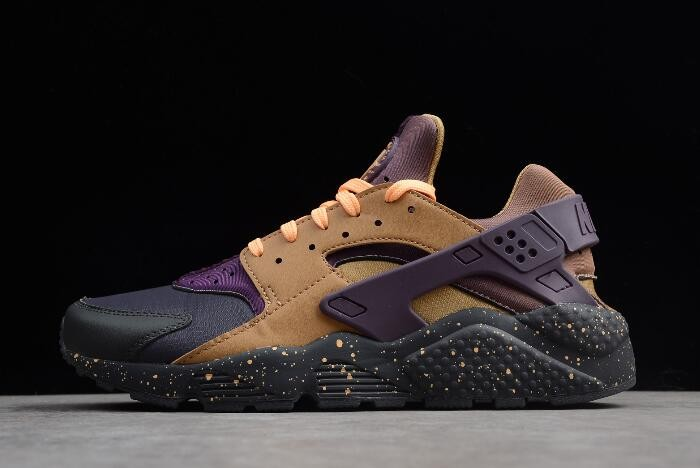 2018 Nike Air Huarache Run Premium Anthracite Pro Purple Elemental Gold 704830 012 Shoes