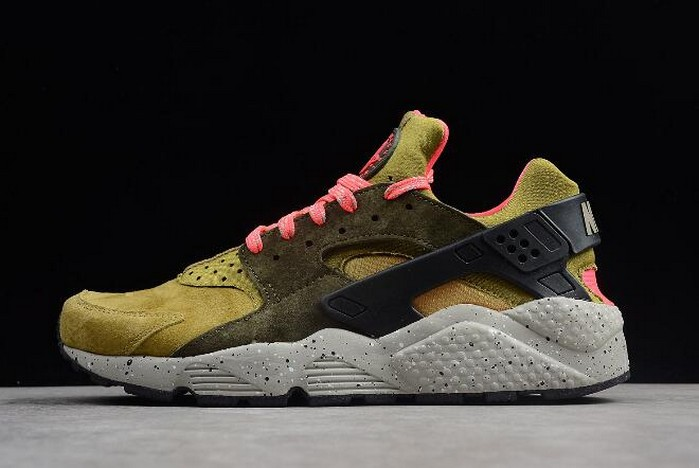 2018 Nike Air Huarache Run Premium Desert Moss Cobblestone Cargo Khaki Shoes