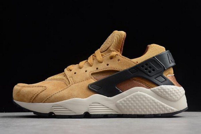 "2018 Nike Air Huarache Run Premium ""Wheat"" Black Light Bone Ale Bro 704830 700 Shoes"
