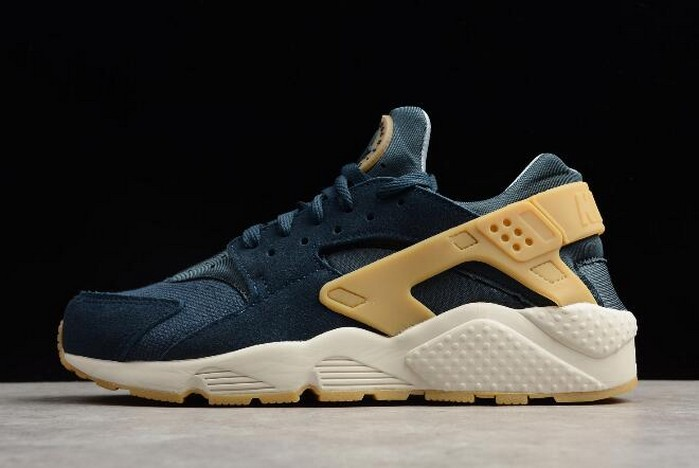 Nike Air Huarache Run SE Armory Navy Gum Yellow Blue Fox 852628 401 Shoes