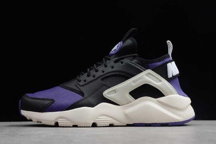 2018 Nike Air Huarache Run Ultra Black Purple White 3875842 302 Shoes