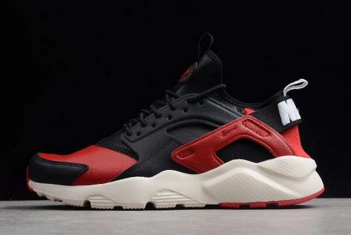 "2018 Nike Air Huarache Run Ultra ""Bred"" Black Red White Running Shoes"