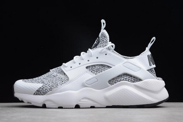 Nike Air Huarache Run Ultra White Black AH6758 001 Running Shoes