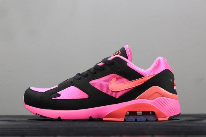 Nike Air Max 180 x Comme Des Garcons Laser Pink Solar Red Black Shoes