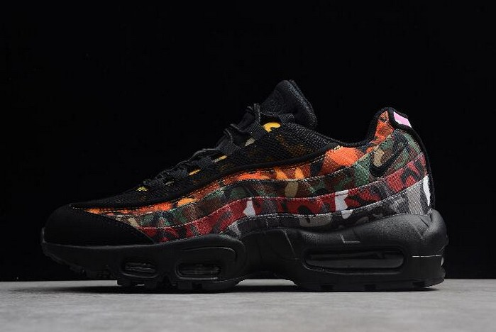 "2018 Nike Air Max 95 ""ERDL Party"" Black Multi Color AR4473 001 Shoes"