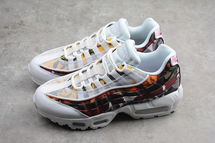 "2018 Nike Air Max 95 ERDL Party ""Camo"" White Multi Color AR4473 100 Shoes"