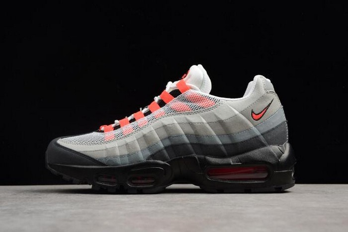 Nike Air Max 95 White Solar Red Neutral Grey 609048 106 Mens Running Shoes
