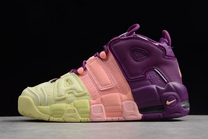 "Nike Air More Uptempo GS ""Lucky Charms"" Citron Pink Bright Purple Night Grape AV8237 800 Shoes"
