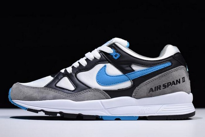 Nike Air Span II Black Laser Blue Dust White AH8047 001 Shoes