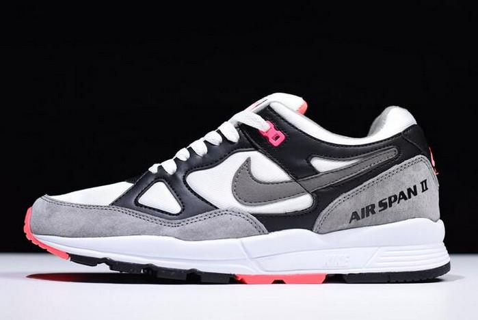 "Nike Air Span II ""Hot Coral"" Black Dust Solar Red White AH8047 005 Shoes"