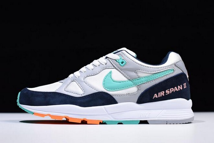 Mens Nike Air Span II Wolf Grey Kinetic Green AH8047 006 Shoes