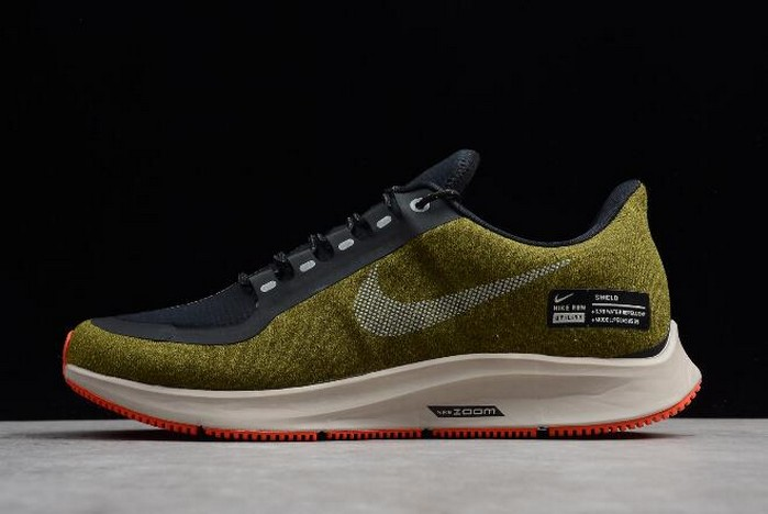 Nike Air ZM Pegasus 35 Shield Olive Flak Metallic Silver AA1643 300 Shoes