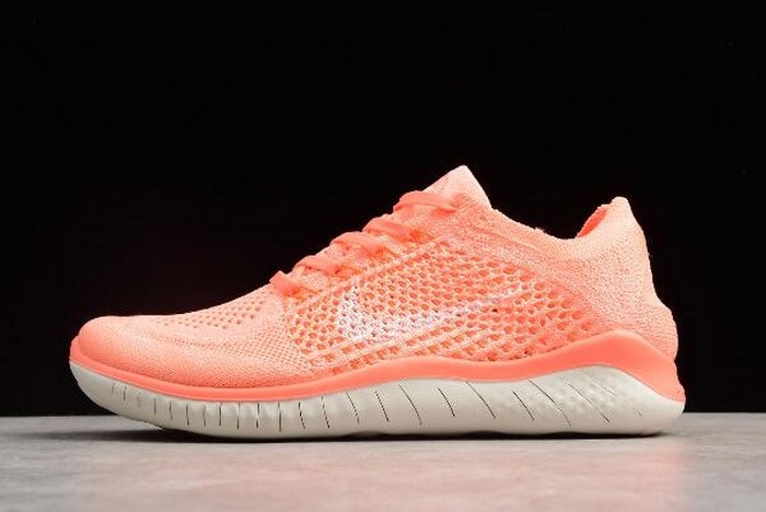 WMNS Nike Free Rn Flyknit 2018 Crimson Pulse Sail Hyper Crimson 942839 801 Shoes