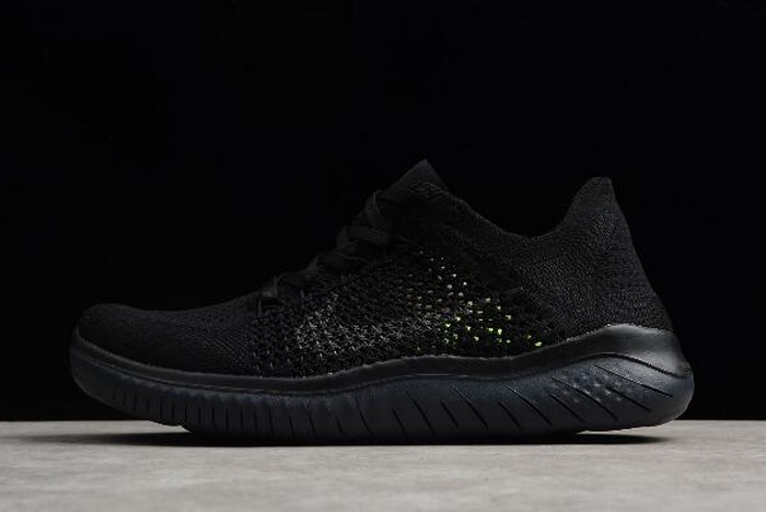 Mens Nike Free Run Flyknit 2018 Black Anthracite Running Shoes