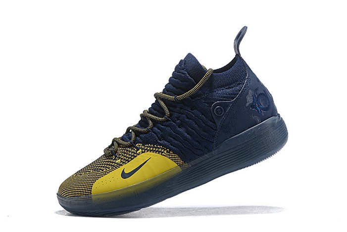 "Nike KD 11 ""Michigan"" College Navy University Gold Basketball Shoes"