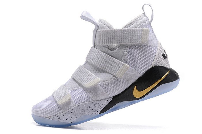 "Nike LeBron Soldier 11 ""Court General"" 897644 101 Basketball Shoes"
