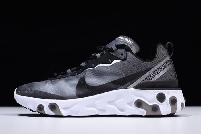 Nike React Element 87 Anthracite Black White Running Shoes