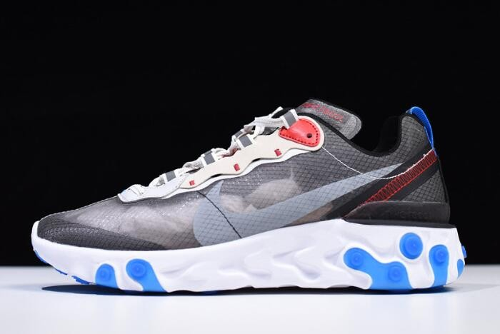 Nike React Element 87 Dark Grey Pure Platinum Photo Blue AQ1090 003 Shoes
