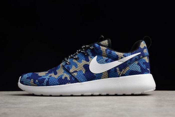 Nike Roshe Run ID White Camo Blue Running Shoes