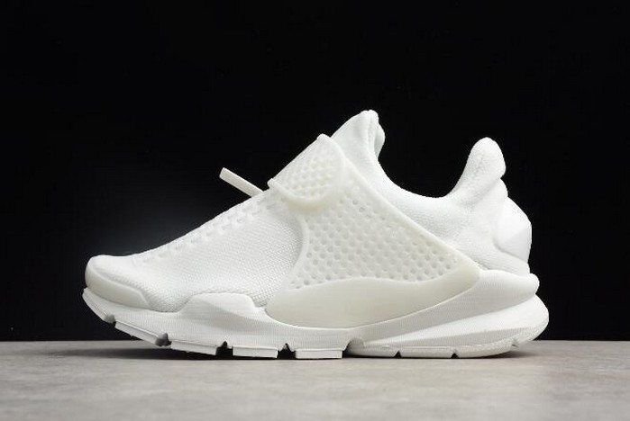 Nike Sock Dart KJCRD Triple White Running Shoes