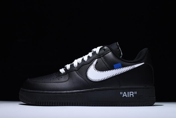 Off White x Nike Air Force 1 '07 Black White AA5122 001 Running Shoes