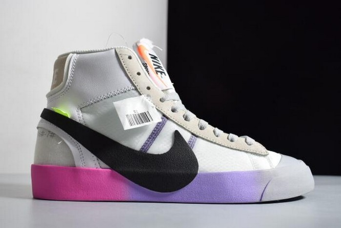 "2018 Off White x Nike Blazer Mid ""Queen"" AA3832 102 Running Shoes"
