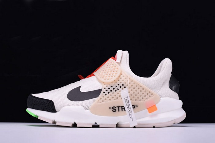 Off White x Nike La Nike Sock Dart White Black Shoes