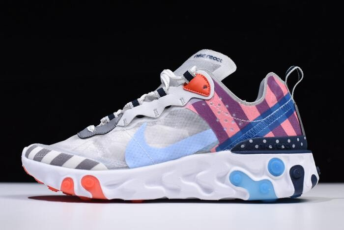 Parra x Nike React Element 87 White Multi Color AQ3057 100 Shoes