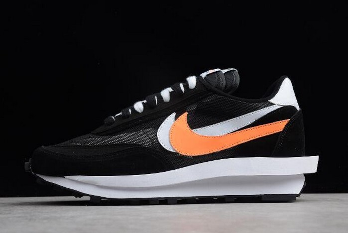 Sacai x Nike LDV Waffle Hybrid Black White Orange 884691 001 Shoes