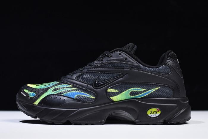 Supreme x Nike Zoom Streak Spectrum Plus Black White Volt Shoes