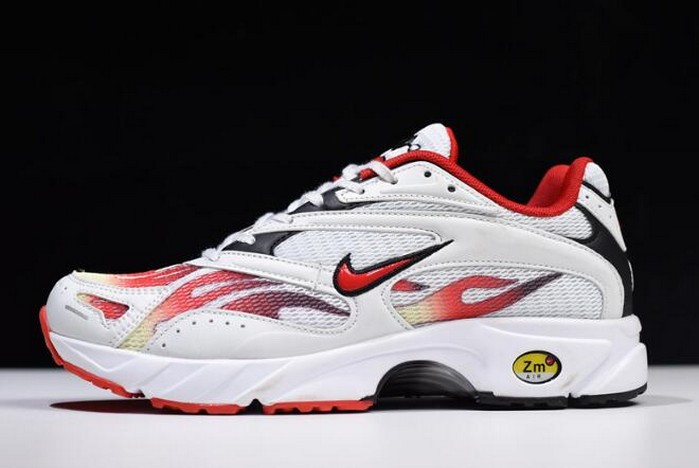 Supreme x Nike Zoom Streak Spectrum Plus White Habanero Red Black Shoes
