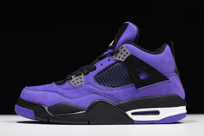 Travis Scott x Air Jordan 4 (IV) Retro Purple Black White 308497 510 Shoes