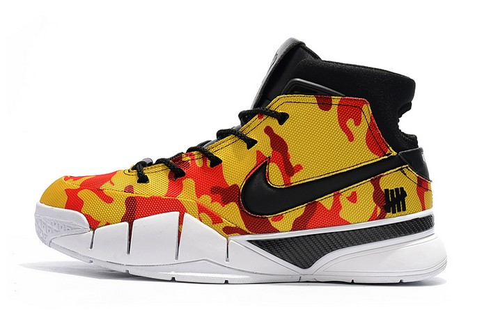 "Undefeated x Nike Zoom Kobe 1 Protro ""Yellow Camo"" Basketball Shoes"