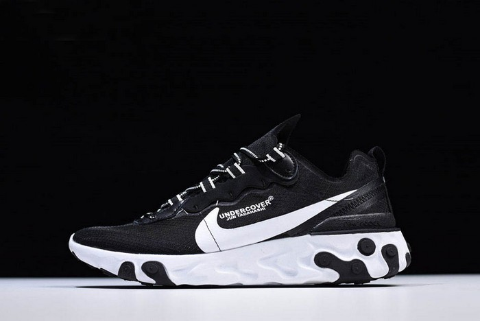 Undercover x Nike React Element 87 Black White Running Shoes
