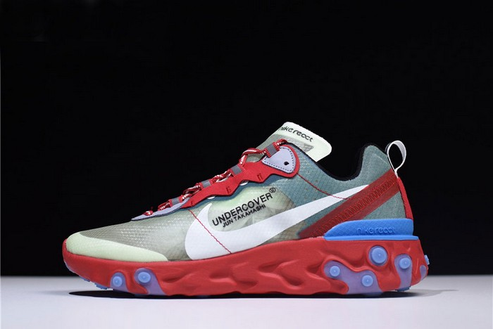 Undercover x Nike React Element 87 Red Green Blue Running Shoes
