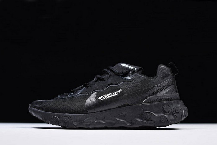 Undercover x Nike React Element 87 Triple Black Running Shoes