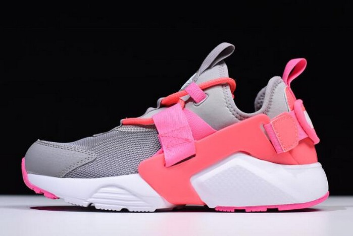 Womens Nike Air Huarache City Low Cream Grey Sun Red White Pink AH6804 007 Shoes