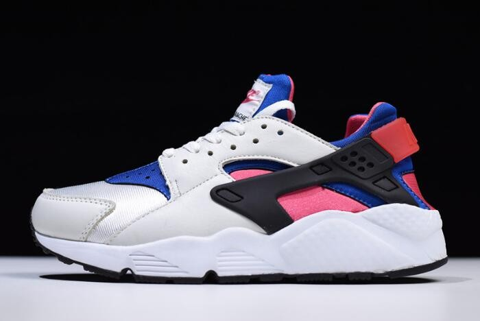 Nike WMNS Air Huarache QS White Game Royal Black Dynamic Pink Shoes