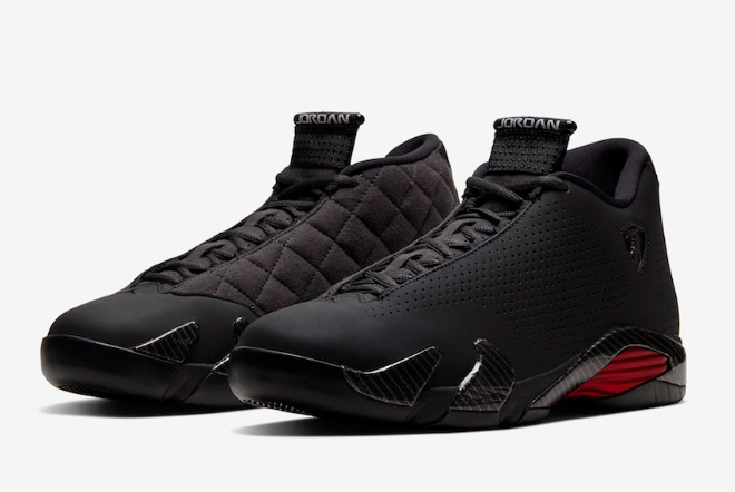 air jordan 14 retro se black ferrari black red