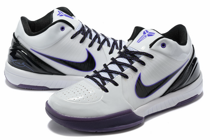 nike kobe 4 white purple black on sale