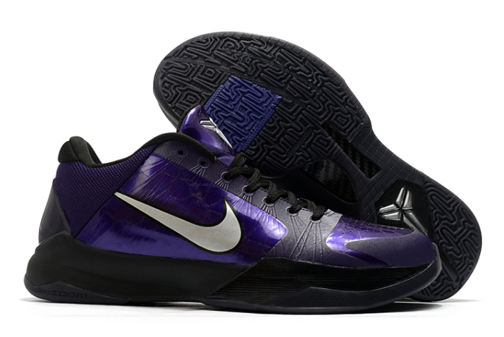 nike zoom kobe 5 purple metallic silver black ice