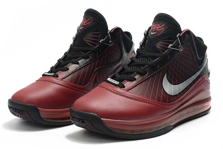 nike lebron 7 christmas red black
