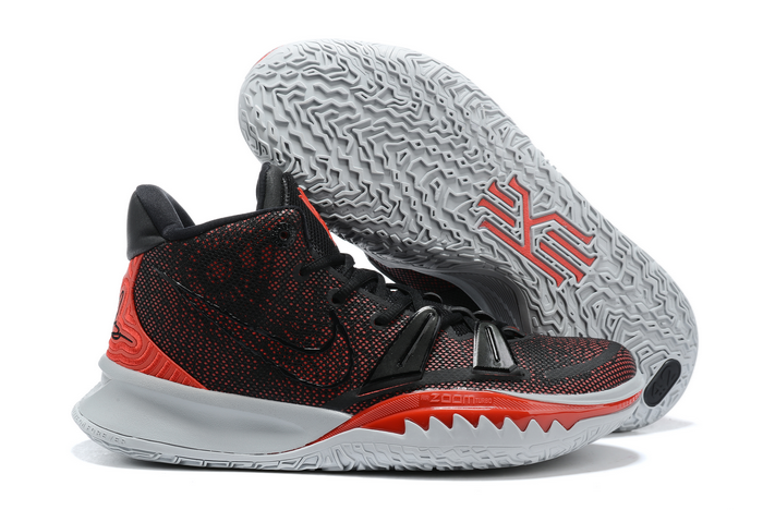 nike kyrie 7 black university red white