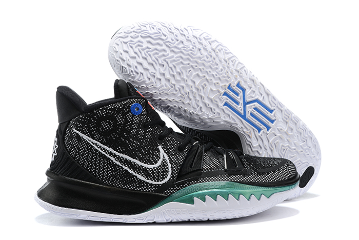 nike kyrie 7 black white green mens