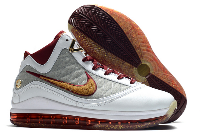 nike lebron 7 mvp white team red wolf grey bronze shoes