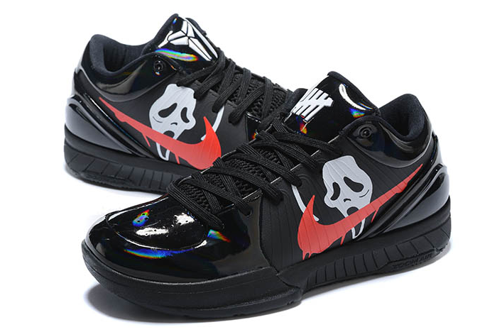 nike zoom kobe 4 protro halloween black red silver shoes
