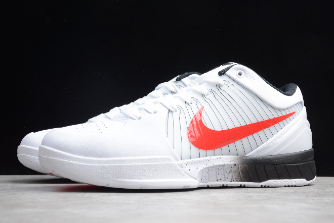 nike zoom kobe 4 protro undefeated pe white red black shoes